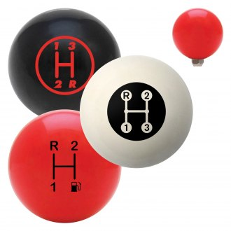 "American Shifter® - Billiard Cue Ball Series ""3 Speed Shift Pattern"" Custom Shift Knob"