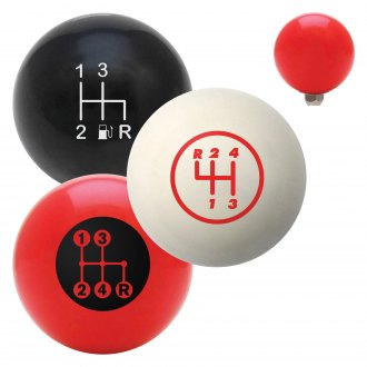"American Shifter® - Billiard Cue Ball Series ""4 Speed Shift Pattern"" Custom Shift Knob"
