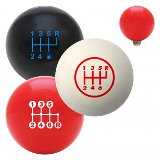 "American Shifter® - Billiard Cue Ball Series ""6 Speed Shift Pattern"" Custom Shift Knob"