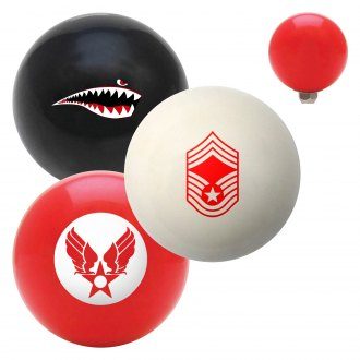 "American Shifter® - Billiard Cue Ball Series ""Air Force"" Custom Shift Knob"