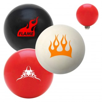 "American Shifter® - Billiard Cue Ball Series ""Flames"" Custom Shift Knob"
