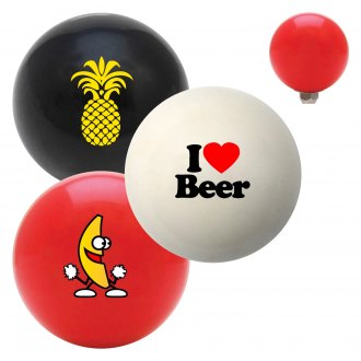 "American Shifter® - Billiard Cue Ball Series ""Food and Drink"" Custom Shift Knob"