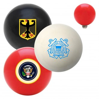 "American Shifter® - Billiard Cue Ball Series ""Government Seals and Crests"" Custom Shift Knob"
