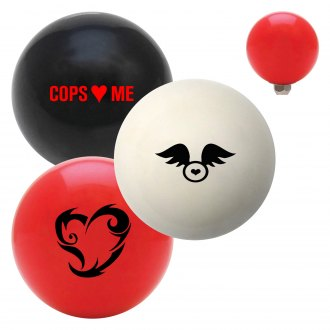 "American Shifter® - Billiard Cue Ball Series ""Hearts"" Custom Shift Knob"