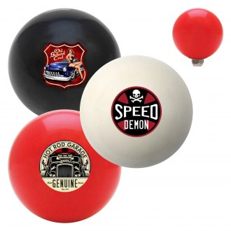 "American Shifter® - Billiard Cue Ball Series ""Hot Rod"" Custom Shift Knob"