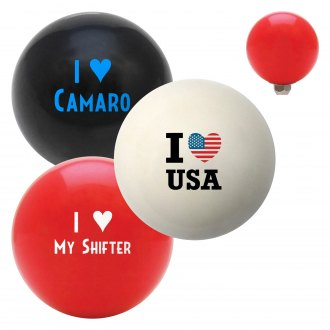 "American Shifter® - Billiard Cue Ball Series ""I Heart."" Custom Shift Knob"