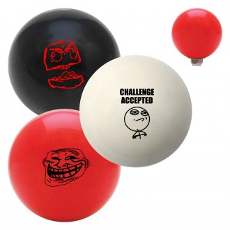 "American Shifter® - Billiard Cue Ball Series ""Internet Memes"" Custom Shift Knob"