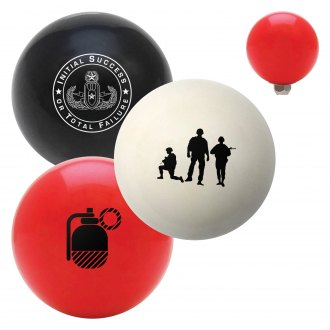 "American Shifter® - Billiard Cue Ball Series ""Military"" Custom Shift Knob"