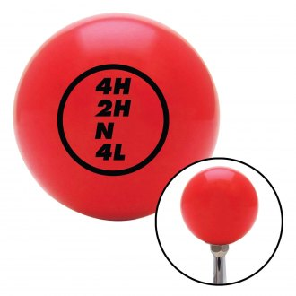 American Shifter® - Billiard Cue Ball Series Red Custom Transfer Case Shift Knob