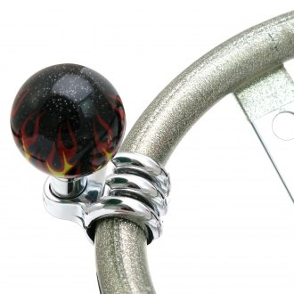 American Shifter® - Black Flame Opaque Custom Brody Knob with Metal Flake