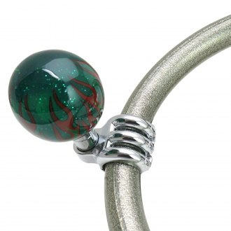 American Shifter® - Green Flame Translucent Suicide Brody Knob with Metal Flake