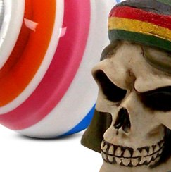American Shifter® - Old Skool Series Multi Color Super Stripe Custom Shift Knob