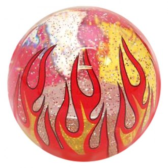 American Shifter® - Flame Series Clear Custom Shift Knob with Metal Flakes