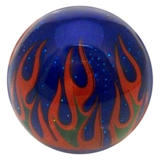 American Shifter® - Flame Series Blue Custom Shift Knob with Metal Flakes