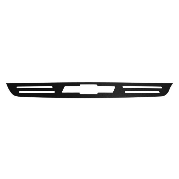 AMI® - Chevy Bowtie Black Powder Coated Billet 3rd Brake Light Cover