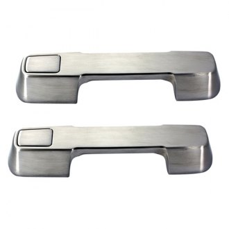 AMI® - Plain Style Brushed Chrome Billet Door Handle Assembly