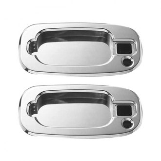 AMI® - Polished Billet Door Handle Buckets - With Driver and Passenger Side Lock Holes