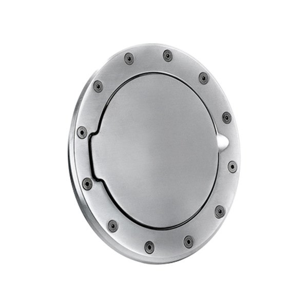 AMI® - Race Style Brushed Chrome Non-Locking Billet Fuel Door