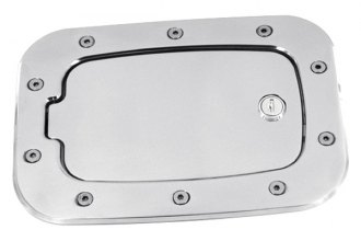 AMI® 6058L - Race Style Brushed Locking Billet Fuel Door
