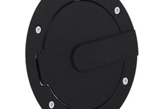 AMI® 6070K - Race Style Flat Black Ring and Black Door Non-Locking Billet Fuel Door