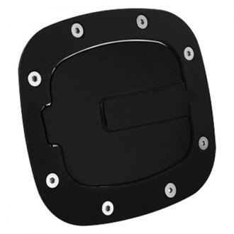 AMI® - Race Style Non-Locking Gloss Black Ring and Black Door Billet Gas Cap