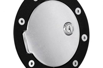 AMI® 6090GKCL - Race Style Gloss Black Ring and Chrome Door Locking Billet Fuel Door