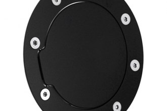 AMI® - Race Style Non-Locking Flat Black Ring and Black Door Billet Gas Cap