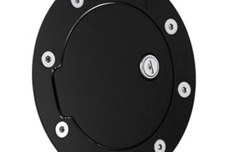 AMI® 6106KL - Race Style Flat Black Ring and Black Door Locking Billet Fuel Door