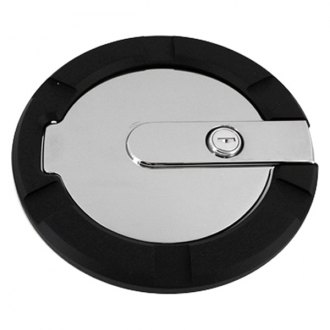AMI® - Striker Style Locking Flat Black Ring and Chrome Door Billet Gas Cap