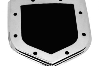 AMI® 45502 - Shield Step Style Polished with Black Powder Coated Center Grille and Tailgate Billet Emblem