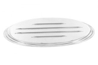 AMI® 52701 - Oval Step Style Polished with Ball Milled Lines Tailgate Billet Emblem