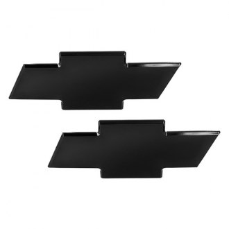 AMI® - Chevy Bowtie Black Powder Coated Grille and Liftgate Billet Emblems