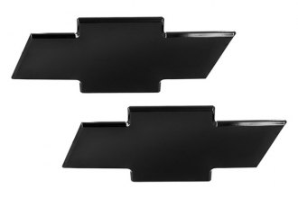 AMI® 96108K - Chevy Bowtie Black Powder Coated Grille and Liftgate Billet Emblems