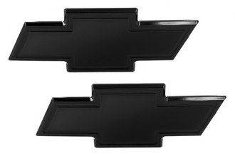 AMI® 96109K - Chevy Bowtie Black Powder Coated Grille and Liftgate Billet Emblems
