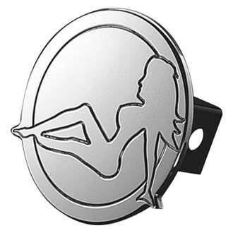 "AMI® - Polished Trucker Girl Hitch Cover for 2"" Receivers"