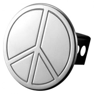 "AMI® - Polished Peace Sign Hitch Cover for 2"" Receivers"