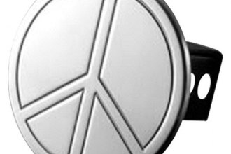 AMI® - Polished Peace Sign Hitch Cover