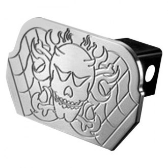 "AMI® - Polished Skull Hitch Cover for 2"" Receivers"
