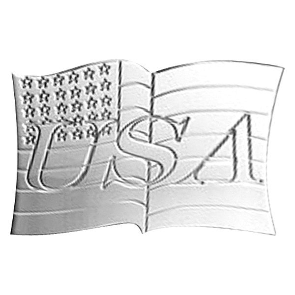 AMI® - USA Flag Polished Hitch Cover
