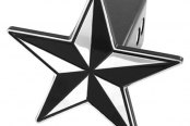 AMI® - Universal Black Nautical Star Hitch Cover