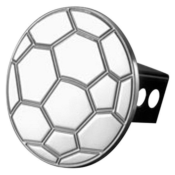 AMI® - Soccer Ball Polished Hitch Cover
