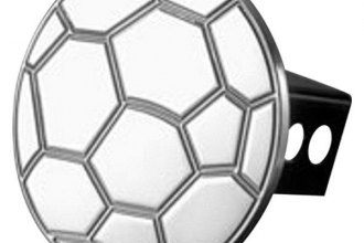 AMI® - Polished Soccer Ball Hitch Cover
