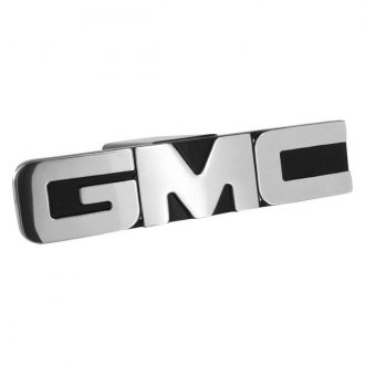 AMI® - Black with Face GMC Logo Polished Hitch Cover