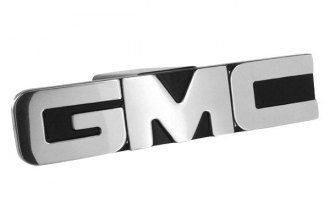 AMI® - Black with Polished Face GMC Logo Hitch Cover