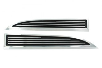 AMI® - Polished with Black Powder Coat Hood Vent Grilles