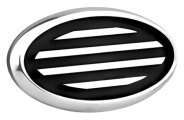 AMI® - Polished Oval Side Vents with Black Lines