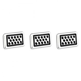 AMI® - Polished Rectangle Side Vents with Black Circles