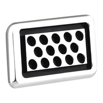AMI® - Polished Rectangle Side Vent with Black Circles