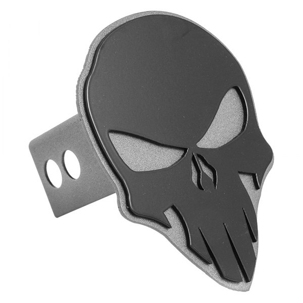 "AMI® - Skull Style Black On Anthracite Hitch Cover for 2"" Receivers"