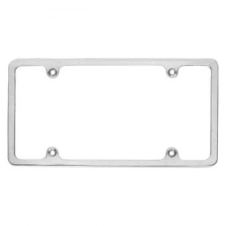 AMI® - Plain Style Polished License Plate Frame
